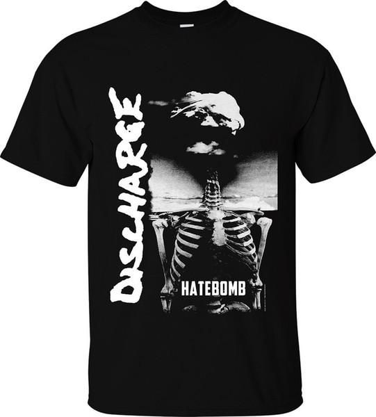 """DISCHARGE T-SHIRT """"HATEBOMB"""" OFFICIAL MERCH british punk rock hardcore d-beat Tees Men Hot Cheap Short Sleeve Male"""