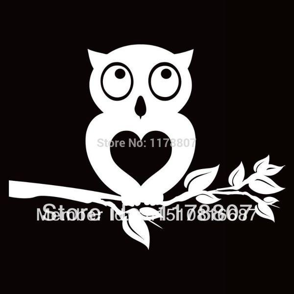 HotMeiNi Wholesale 20pcs/lot Owl Heart Tree Sticker For Car Rear Windshield Truck SUV Bumper Auto Door Laptop Kayak Canoe Art Wall Vinyl
