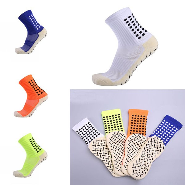 Adult Silica gel Non-Slip Men Medium Tube Socks Thicken Towel Bottom Football Socks Sweat-Absorbent Wearable Breathable Sports Socks G485Q