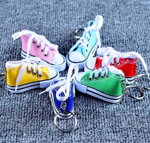 b3ab48caff4a53 Fashion Cute Sport Shoes Keyring Mini 3D Sneaker Canvas Shoes Keychain  Tennis Shoe Chucks For Unisex Jewelry DHL Free Shipping