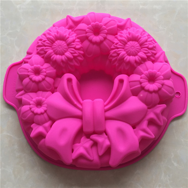 DIY Cook Mould Single Bow Silica Gel Will Roast Disc Cake Model Bring Ears Defence Burn No Sticky Mold Easy Clean