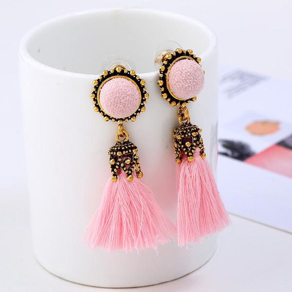 Fashion Jewelry Fringed Tassel Earrings For Women 4 Colors Vintage Handmade Ethnic Bohemian Fringes Earrings Brincos ER3595