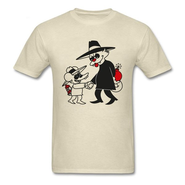 T-shirt Gatto VS T-Shirt Funny Uomo T Shirt Bomb White Tshirt Tessuto in cotone Abbigliamento Comic Tees Cartoon Top Oversize