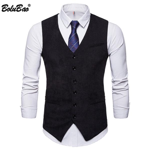 Compre Bolubao Marca De Moda Hombres Chalecos De Vestir Para Ajustado Otoño Chaleco De Traje Para Hombre Chaleco Masculino Casual Chaqueta De Negocios