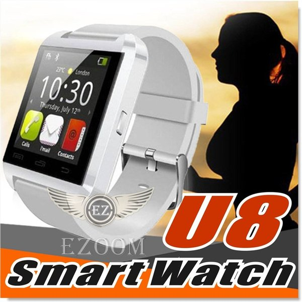 U8 Smart Watch Smartwatch Wrist Watches with Altimeter and motor for iPhone 7 6 6S Plus Samsung S8 Pluls S7 edge Android Apple Cell Phone