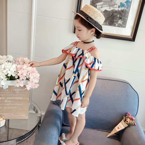 Girl Korean Camisole Skirt Summer Pure Cotton Strapless One Word Lead Dress Woman Baby Fashion Western Style Princess Skirt