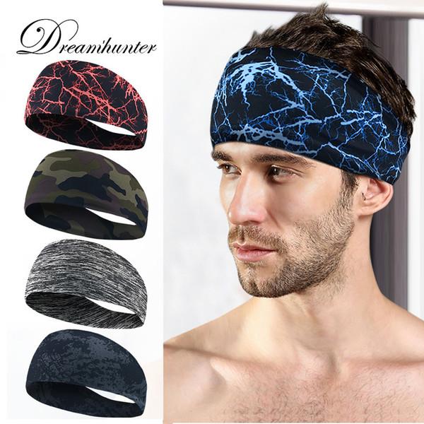 Unisex Men Women Sports Headband Stretch Sweat Headband Sport Running Yoga Exercise Sweatband Gym Absorbent Hairband