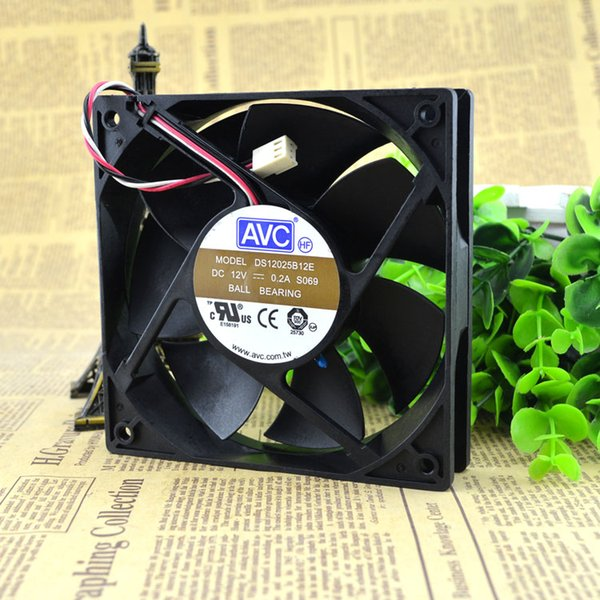 For Original Genuine AVC DS12025B12E 12025 DC12V 0.2A 12cm CPU Cooling Fan