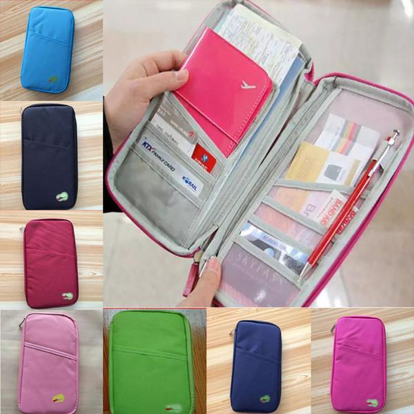 Fashion Cover Wallet Purse Holder Case Document Bag Travel Passport Holder Wallet Cute Purse ID Card Organizer Case