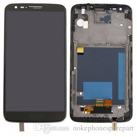 Black for LG G2 VS980 LCD Display Touch Screen Digitizer Assembly+Bezel Frame Replacement Parts with ''verizon''logo