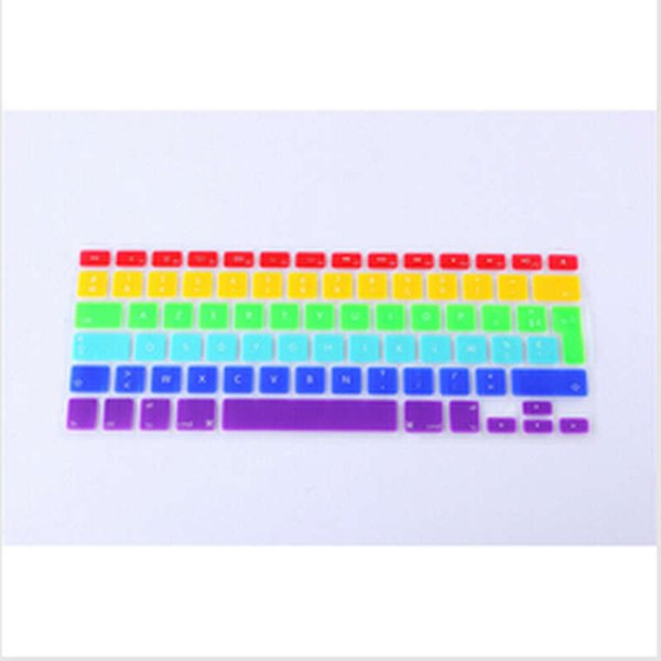 AZERTY French Euro Rainbow keyboard cover for  macbook Air Pro Retina 13 15 17 Protective Stickers for mac book laptop Skin