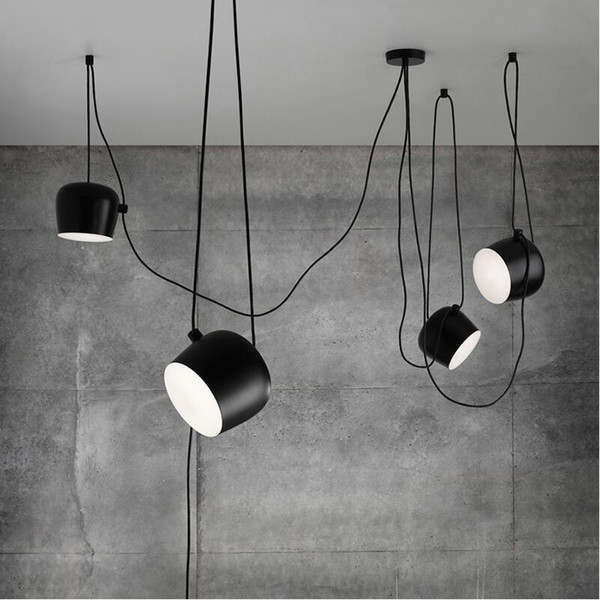 FUMAT Modern Creative Fashion DIY Aim Lamp Indoor Lighting acrylic cover White Black Iron Shade Pendant Light Cafe Suspension Lamp luminaire
