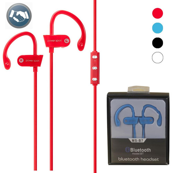 New MS-B7 Bluetooth Earphone Headphone Stereo Sport Running Wireless Headset with Microphone for Phone for iphone 7 7plus