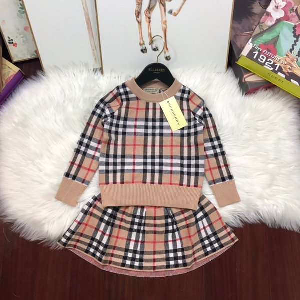 Two piece outfit children fa hion weater long leeve round neck jacket olid color trou er baby twin et kid clothing et tutu dre