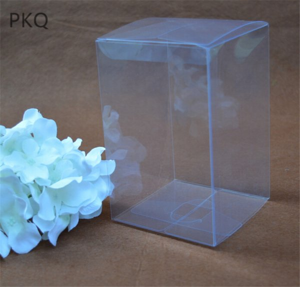 5x5x8cm Plastic Clear PVC Boxes Transparent Waterproof Gift Box PVC Carry Cases Packaging Box For jewelry/Candy/toys 30pcs