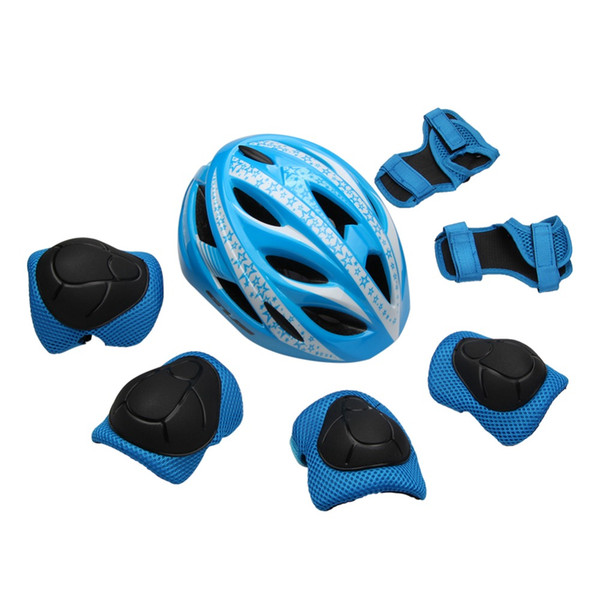 GUB 7pcs/set Cycling Helmet Kids Children Bicycle Scooter Skating Helmet Elbow Knee Wrist Pads Bike Bicycle Roller Protect Gear