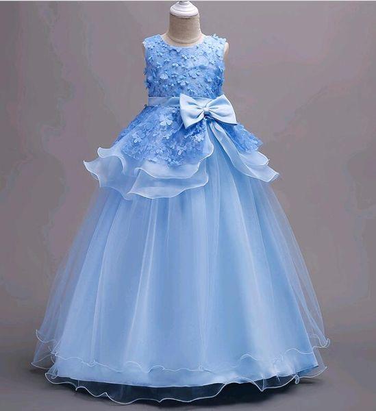 Großhandel Kinder Kostüme Lange Stil Spitze Blume Mädchen Kleider ...