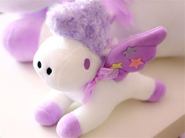 The New Pegasus Unicorn Dolls Hang Plush Toy Velvet Animal Mobile Phone Pedestal Decoration Spot Gift Girlfriend