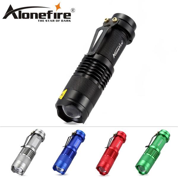 ALONEFIRE TK68 5 cores CREE Q5 LED Cool Lanterna Portátil Mini Lanterna Foco Ajustável Zoom estudante criançaLightLight