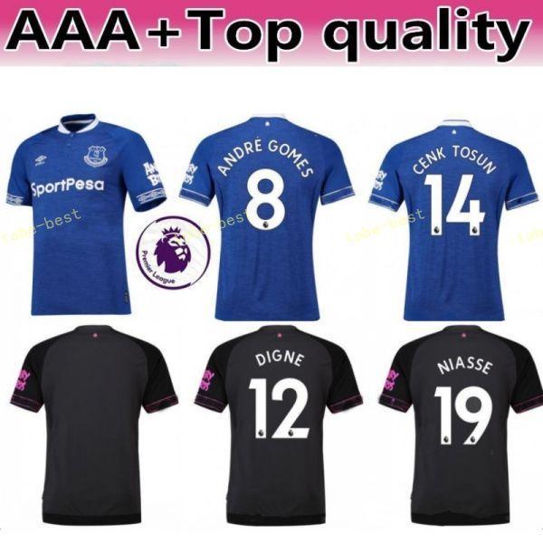 2018 2019 FC Everton Jersey Homens de Futebol 3 BAINES 6 JAGIELKA 11  WALCOTT 14 CENK 4574693d4