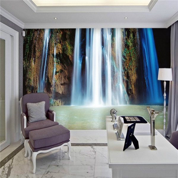 Customized photo HD wallpaper 3d wall murals wallpaper Ink painting landscape Waterfall mural 3d TV background room wall paper
