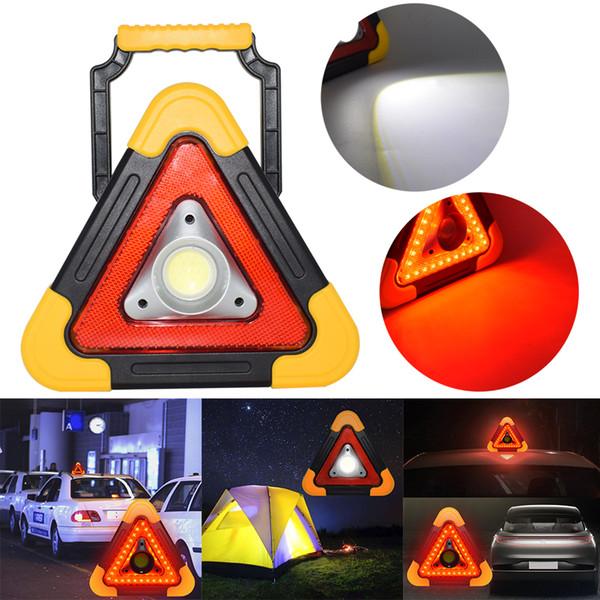 Portable Flood Lamp COB Work Light Multi Function Triangle Warning Light  SOS Camping Searchlight LED Traffic Lighting Chinese Lanterns Wedding  Coleman