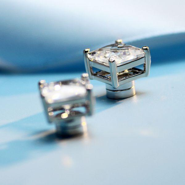 Magnetische Ohrringe Diamantclip auf Ohrringe Aussage Ohrringe Hochwertige Mode Zirkon Brautohrringe Heißer Verkauf