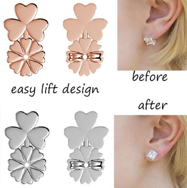 best selling New Fashion Clover Magic Bax Earring Backs Support Earring Lifts Fits All Post Earrings Free Shipping