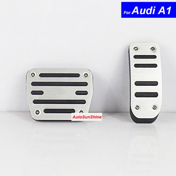 Car Aluminium Alloy Petrol Clutch Fuel Brake Braking Pad Foot Pedals Rest Plate for Audi A1 A3 A4L A6L A7 A8 Q3 Q5 Auto Pedals
