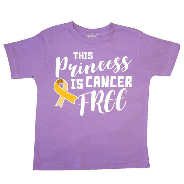 Inktastic This Princess Est Cancer Libre Enfant T-Shirt Sensibilisation Enfance Or Drôle livraison gratuite Unisexe Casual tee cadeau
