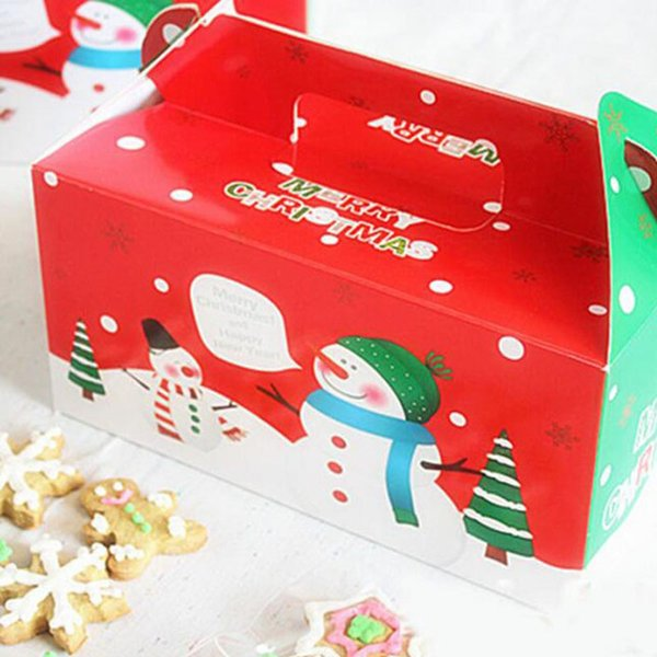 wholesale hot sale Christmas Box Gingerbread Cookie Apple Storage Boxes Cake Biscuit Candy Packaged Free Shipping