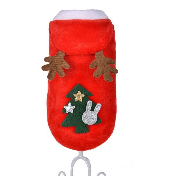 2018 New arrival Christmas Dog Clothes Winte Coat Clothing Santa Xmas Costume Pet Dog Christmas Clothes Cute Puppy Outfit For Dog 30pcs/lot