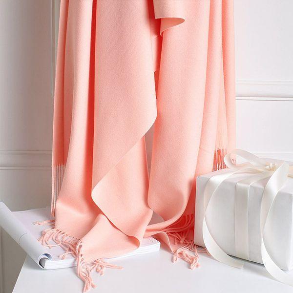 DHL Fashion Women Winter Scarves Thick Muffler Brand Designer Solid Color Tassel Scarfs And Shawls Wraps Hijabs Pashmina Warmer Scarves HOT