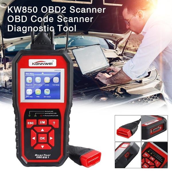 KONNWEI KW850 Universal OBD2 Autoscanner Diagnose in Russisch Spanisch Automotive Diagnostic-tools Entspricht dem AL519 Car-Detector