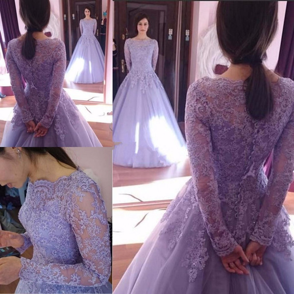Vintage Puffy Organza Plus Size Prom Dresses Elegant Floor Length Applique quinceanera Formal Evening Gown Lace Long Sleeve Party Beaded