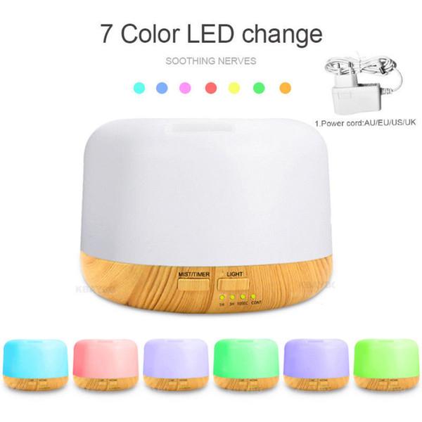 NUEVO Air Humidifier Aroma Aromatherapy Aromatherapy Electric Aroma Difusor Aroma 7 Color LED luz con caja al por menor