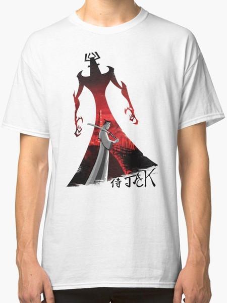 Men T shirt Short Sleeve Print Casua Print T Shirt For Men 2018 Samurai Jack New T-Shirt Men's White