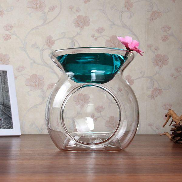 Quemador de incienso de vidrio transparente lámpara dulce aing tipo de dulce Perfume de aceite esencial de gran capacidad horno perfumado vela