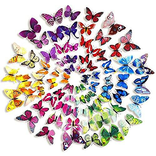 3D Colorful Butterfly Wall Stickers DIY Art Decor Crafts For Nursery Classroom Offices Kids Girl Boy Baby Bedroom Bathroom Living Room