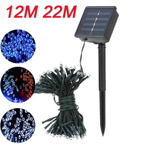 Solar Lamps LED String Lights 100/200 LEDS Outdoor Fairy Holiday Christmas Party Garlands Solar Lawn Garden Lights Waterproof 12M 22M