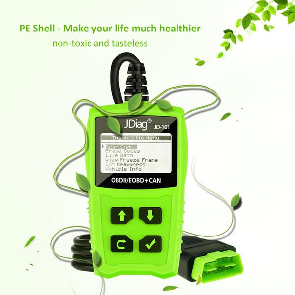 50Pcs/Set Auto Diagnostic DIY Code Reader JDiag JD-101 OBDII OBD Scan Tool Automotive Scanner JD101 PK AL319 ELM327 OM123
