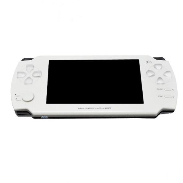 X8 4.3 Inch Touch Screen 8GB Portable Game Console Can Store With E-book TV Out Handheld Classical Free Games MP4 MP5 Player