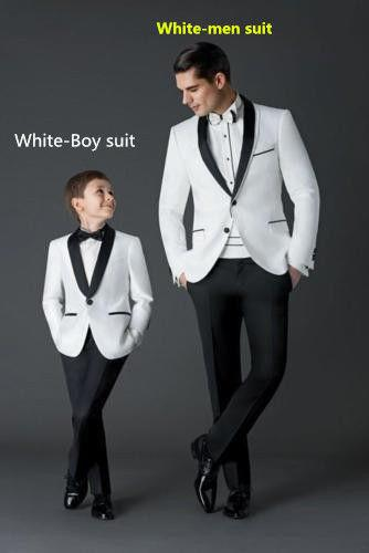 new wedding suits for men white grooms tuxedos shawl lapel boys mens suits two piece groomsmen suit slim fit two button