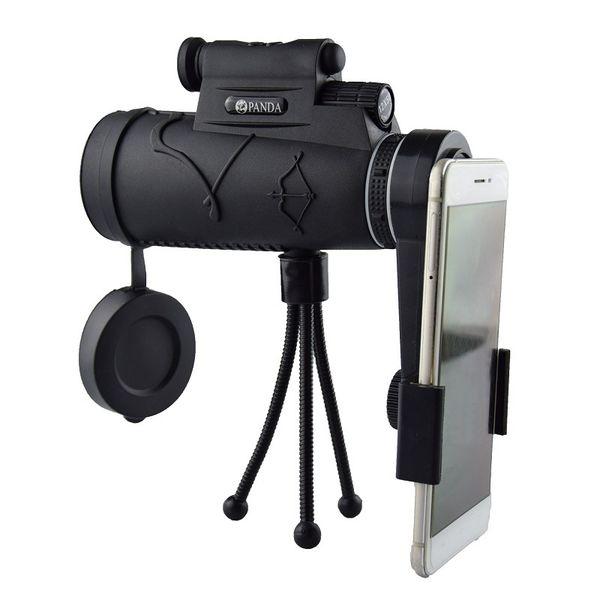 12x zoom telescopio para teléfono móvil lente de la cámara luz de visión nocturna telescopio monocular impermeable con trfor camping hikin
