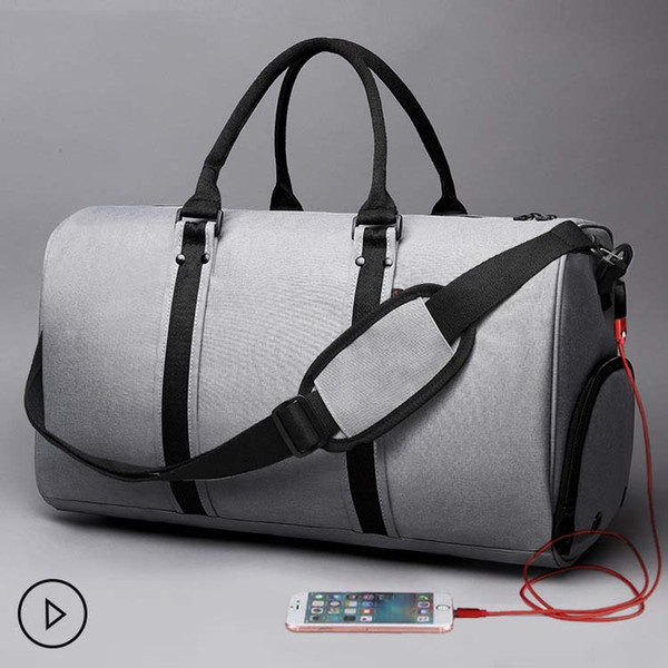 2018 high quality nylon material sport and outdoor bags new arrival outdoor travel and gym bags