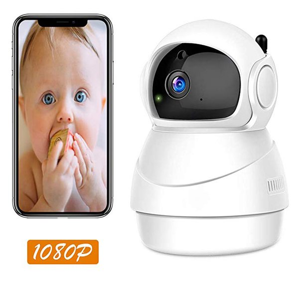 WiFi IP Camera, Pan/Tilt/Zoom 1080P HD Wireless Security Camera for Home Surveillance with Remote Control Two-Way Audio 3D Position
