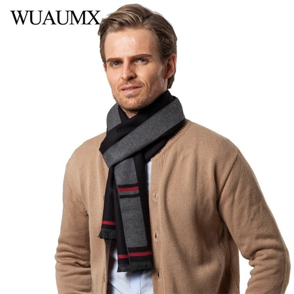 wholesale British Style Autumn Winter Scarf For Men Business Scarves Male thickened Warm Neckerchief Muffler Shawls echarpe homme