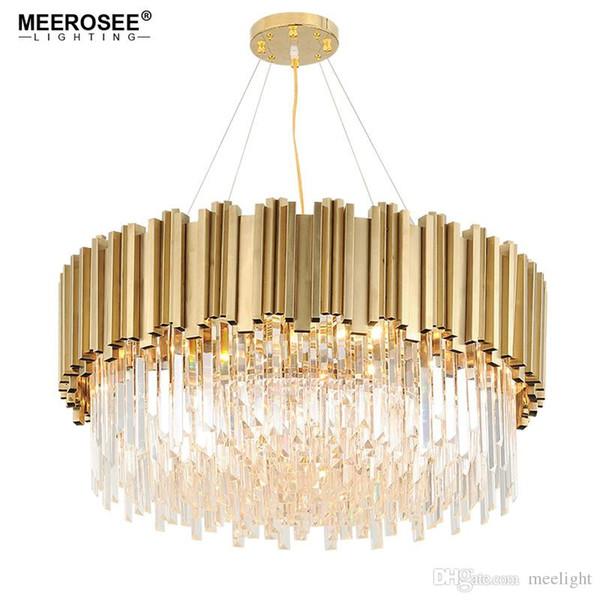 Luxury Crystal Chandelier Light Gold Crystal Lighting Fixtures Cristal Lustres Luminaire for Dining Living room Restaurant Lamp