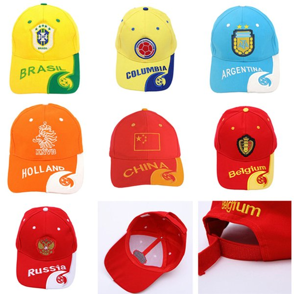 World Cup Soccer National Football Sun Hat Snapback Baseball Cap France FR