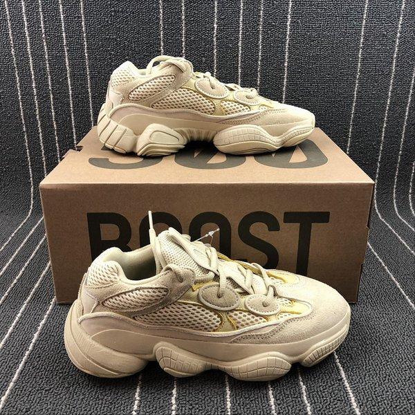 784cdb7021f96 With box Desert Rat 500 running shoes 2019 mens Kanye West Utility Black  super Moon Yellow